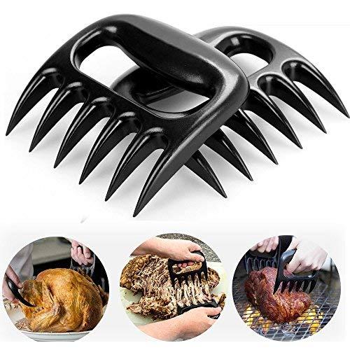 Meat Claws, 1 Paar Fleischkrallen BBQ Tools, Tophung Solide Version BBQ Meat Claws Fleischgabel Bärenkrallen Fleisch-Krallen Perfekt für Grill/Pulled Pork Chicken Beef(Schwarz)