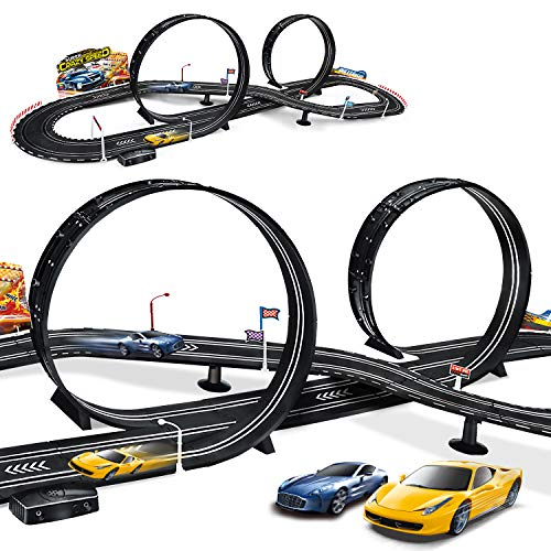 Kids Toy-Electric Powered Slot Car Race Track Set Boys Toys for 3 4 5 6 7 8-16 Years Old Boy Girl Best Gifts
