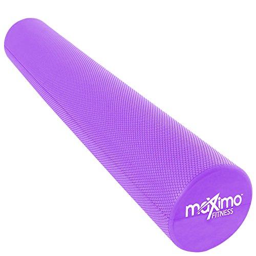 Maximo Fitness Rodillo de Espuma Largo – 6 x 36 Pulgadas (15 cm x 90 cm) – Tipo Trigger Point Herramienta de Auto Masaje para Casa, Gimnasia, Pilates, Yoga – Instrucciones Incluidas.