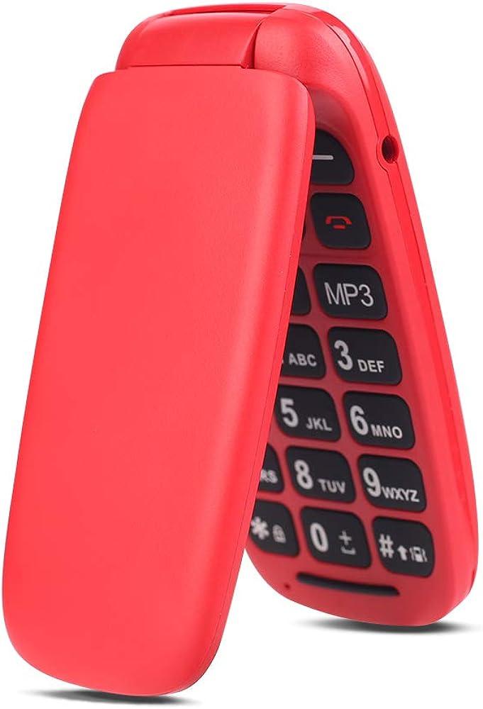 Ukuu telefono cellulare per anziani con tasti grandi chiamata rapida and torcia Fp-r341-red-it