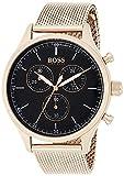 Hugo Boss Herren Chronograph Quarz Uhr mit Edelstahl Armband 1513548