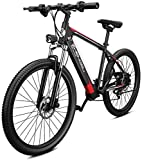 26' bicicletas de montaña eléctrica for adultos, Todo Terreno Ebikes E-MTB de aleación de magnesio 400W 48V extraíble de iones de litio 27 plazos de envío de la bicicleta for mujeres de los hombres