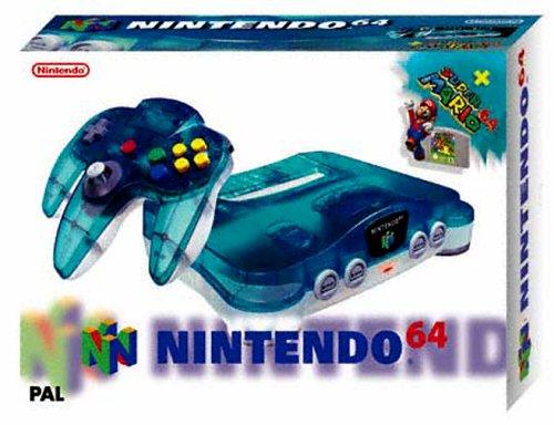 Console N64 Clear Blue + Super Mario 64