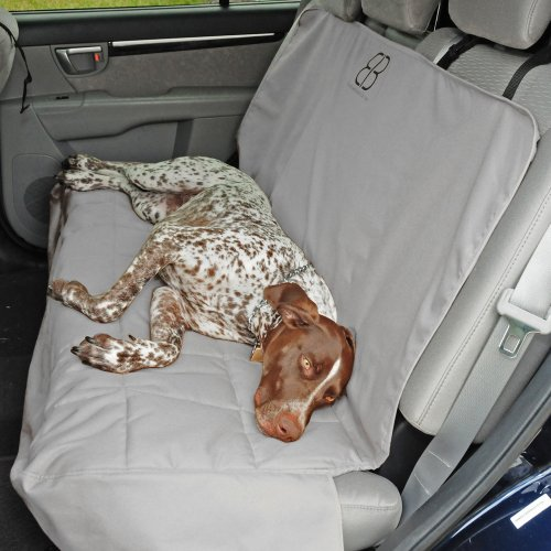 Petego Dog Car Seat Protector, Rear, Gray, X-large SUV