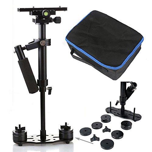 """OUkANING DSLR - Stabilizzatore professionale S60 per fotocamera, palmare, da 61 cm (24""""), con piastra Pro a sgancio rapido, per videocamera DV DSLR Nikon/Canon/Sony/Panasonic, nero"""