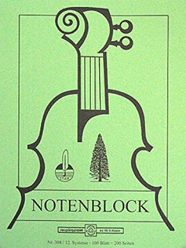 Notenblock A4 Hoch 200 Seiten Umweltpapier