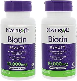 【Natrol】育毛サプリ ビオチン Biotin 並行輸入品 (2個セット) [並行輸入品]