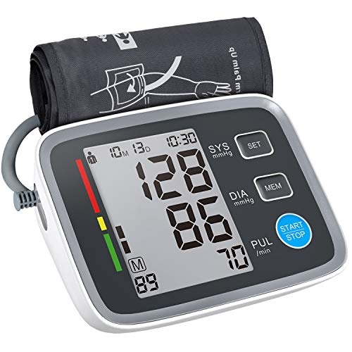 ALPHAGOMED Upper Arm Blood Pressure Monitor Automatic 20 inch Blood Pressure XL Cuff Machine Digital Sphygmomanometer 180 Memory for High Blood Pressure Users 2 People at Home Use