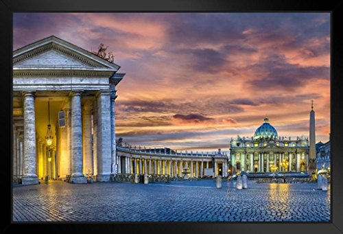 Vatican City St Peters Square Rome Italy Photo Art Print Framed Poster 18x12 by ProFrames
