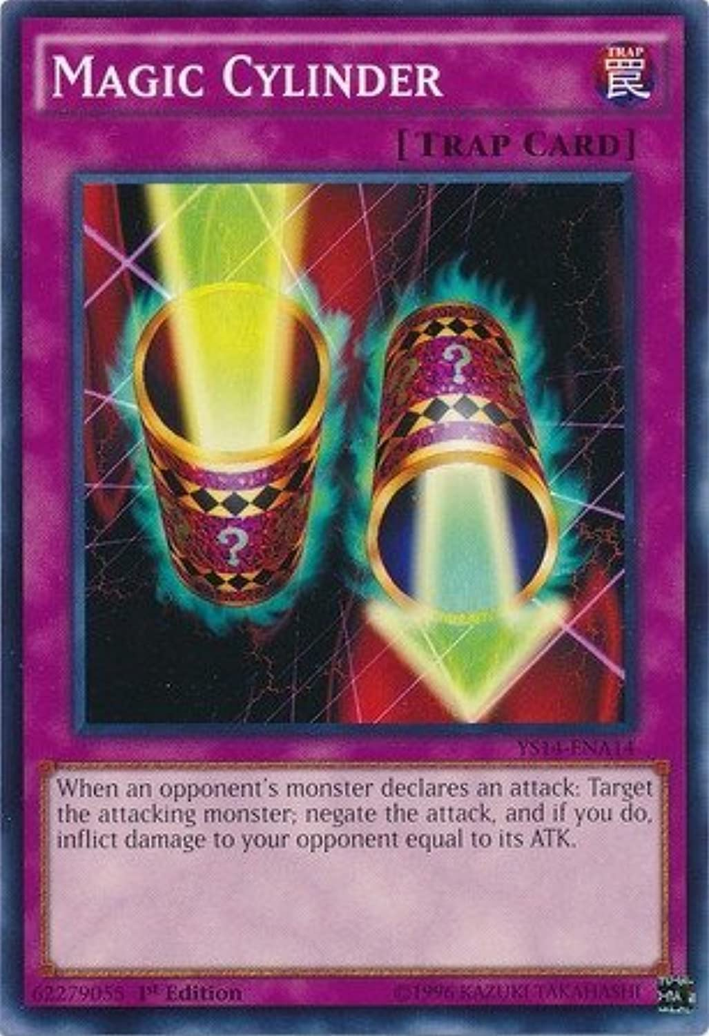 YuGiOh   Magic Cylinder (YS14ENA14)  SpaceTime Showdown PowerUp Pack  1st Edition  Common by YuGiOh