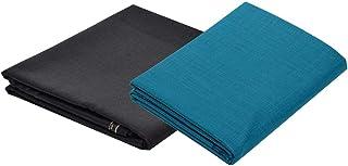 KUNDAN SULZ GWALIOR Men's Poly-Cotton Shirt & Trouser Fabric Combo Set (Black/Multi)