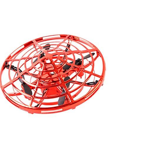 ACEHE UFO Induction Drone, UFO Smart Sensor Aircraft Gesture Mini Drone Juguete de Regalo UFO Vehículo de inducción Inteligente Control de Gestos Mini UAV Toys (Rojo)