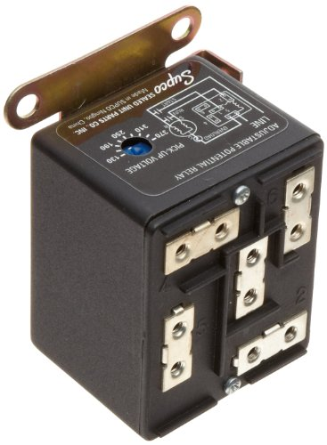 Supco APR5 Wire to Wire Adjustable Potential Relay, 30 A Load Current, 110 - 270 VAC Single Phase Operating Voltage