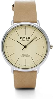 Omax Dress Watch For Unisex Analog Leather - 00CC9019QV0V