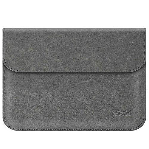 TECOOL 13-13.3 Zoll Laptophülle Faux Leder Notebook Hülle Laptop Tasche für MacBook Air 13 A1466/A1369, MacBook Pro 13 Retina (A1502/A1425), Huawei 14 Zoll Matebook D, 13.5