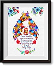Uhomate Princess Belle Beauty and The Beast Beauty Beast Home Canvas Prints Wall Art Baby Gift Inspirational Quotes Wall Decor Living Room Bedroom Bathroom Artwork C018 (8X10)