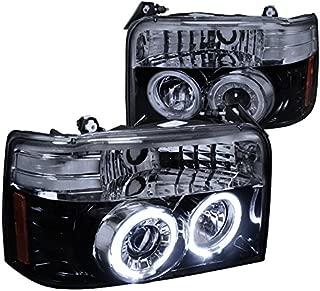 Spec-D Tuning 2LHP-F15092G-TM Ford Bronco F150 F250 F-150 F-250 Smoked Halo Projector Head Lights