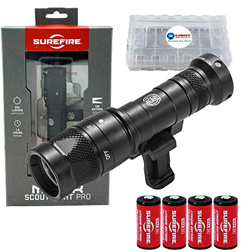 SureFire Mini Infrared Scoutlight Pro Compact Light M340V Bundle with 4 Extra CR123A Batteries and a Lightjunction Battery Case