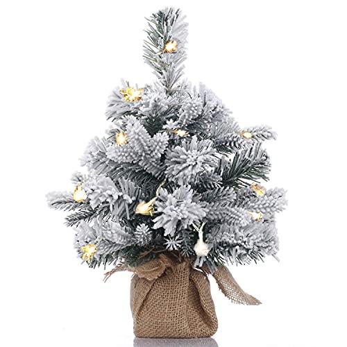 A-SZCXTOP - Mini árbol de Navidad para escritorio cubierto de nieve artificial. Árbol de Navidad para la casa y la oficina. Decoración de escritorio, 50 cm