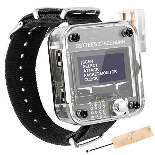 AURSINC Wifi Deauther Watch V3 ESP8266 Entwicklungsplatine | tragbare Smartwatch | OLED & Laser | Angriffs-/Steuerungs-/Test-Tool | LOT für DSTIKE NodeMCU