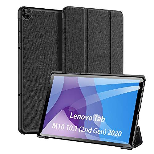 DUX DUCIS Funda para Lenovo Tab M10 HD 2nd Gen 10.1' 2020, Protectora Carcasa Cover para Lenovo Tab M10 HD 2nd Gen TB-X306X / X306F, Auto Sleep/Awake (Negro)