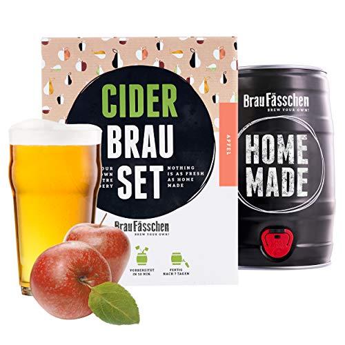 braufaesschen | Geschenk für Frauen | Cider-Brauset Apfel | Apfelwein zum selber Machen | In nur 7 Tagen trinkfertig Frauen