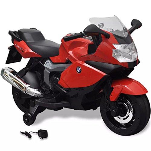 vidaXL Moto eléctrica de juguete color rojo, modelo BMW 283 6 V juego niño infantil