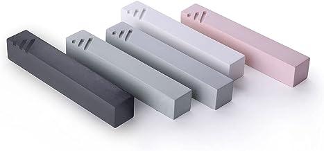 Modern Jewish Mezuzah Case Handmade–Cement Minimalist Design with Subtle Shin-Color Choice-Easy Peel and Stick Door Mount ...