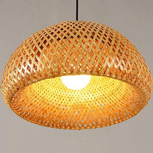 bamboe rieten rotan lampenkap met de hand geweven dubbele laag bamboe koepel lampenkap Aziatische rustieke Japanse lamp ontwerp