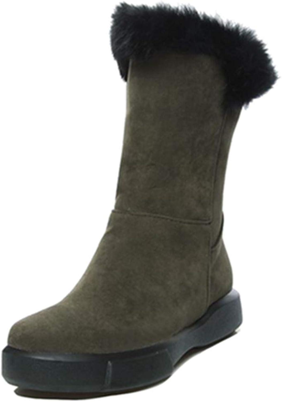 SJJH Women Winter Boots Casual Ankle Warm Boots