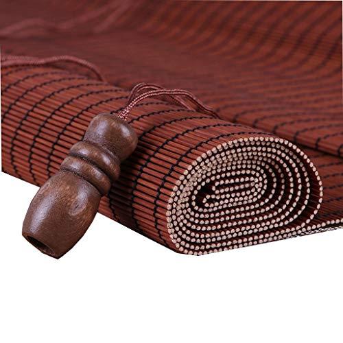 GWDJ persiana enrollable de bambú Persiana Enrollable Grande para Exteriores, Cubierta Gazebo Pergola Balcón Patio Patio Porche Carport Persianas de Bambú, 70% de Protección de Oscurecimiento