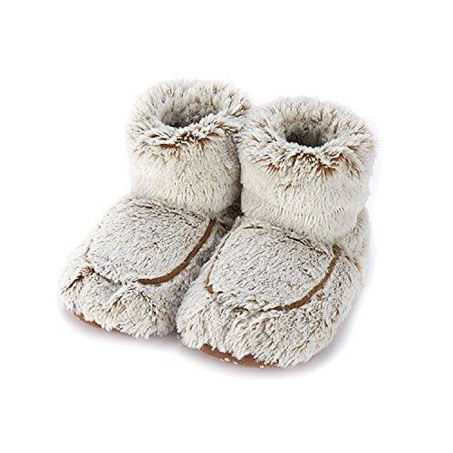 Warmies Damen/Damen Hausschuhe in der Mikrowelle, 90 Sekunden hoch, Einheitsgröße 36-40, Beige - Beige Marshmallow - Größe: 35/39 EU