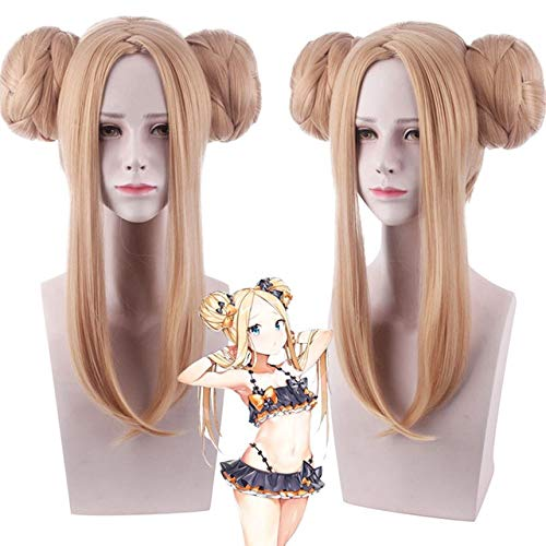Abigail Williams Peluca de cosplay Fate/Grand Order Peluca de cosplay con doble trenzado Cola de caballo Pelo sinttico Fiesta de Halloween FGO Wig Fate Grand Order WIG PL-674