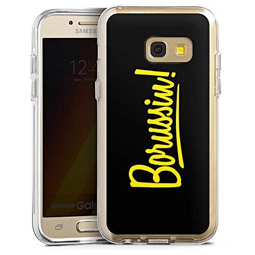 DeinDesign Cover kompatibel mit Samsung Galaxy A3 2017 Bumper Hülle Bumper Case Schutzhülle Borussia Dortmund Borussin Fanartikel