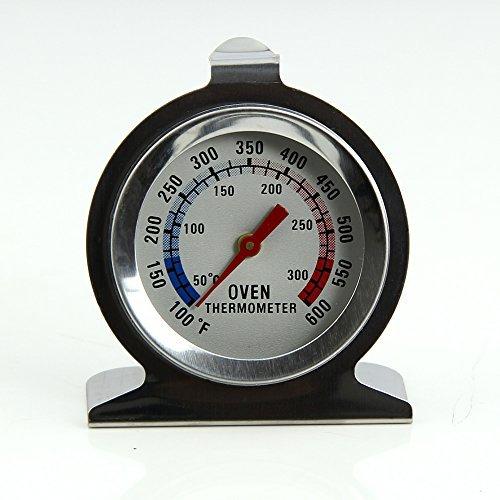 Ofenthermometer aus Edelstahl, zum Aufhängen oder Aufstellen im Ofen