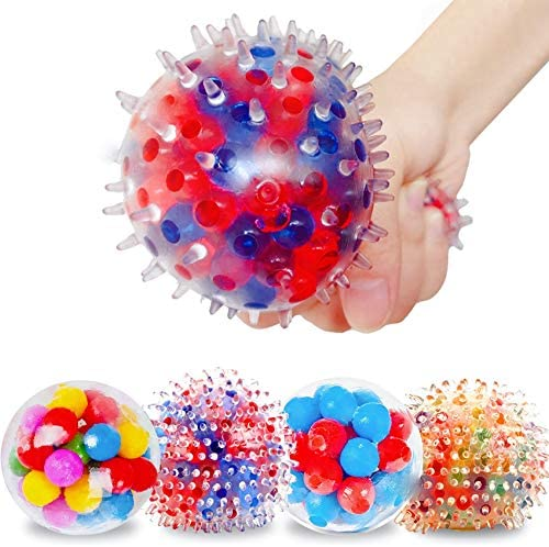 VRCLUB Stress Relief Balls for Kids and Adults 4 Packs Different Stress Balls with Water Bead product image