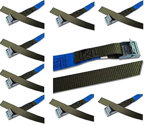 iapyx® - Juego de correas de fijación con cierre rápido ideales para portabicicletas, bandas de tensión con cerradura de apriete