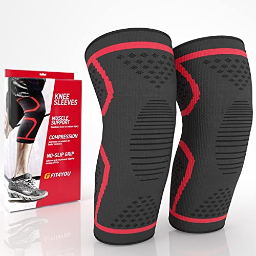 Compression Knee Brace – Knee Brace Compression Sleeve – Knee Sleeves for Knee Pain –...