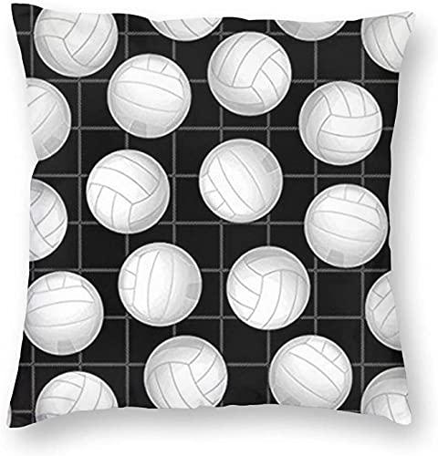 KPLA Fundas de almohada para deportes de voleibol, 45,7 x 45,7 cm, fundas de almohada de granja, diseño híbrido para silla de cama