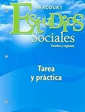 Harcourt Estudios Sociales: Student Homework & Practice Book Grade 4 States & Regions (Spanish Edition)
