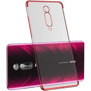 高級電話ケース超薄型3セクションメッキソフトシリコンカバー透明TPUシェル Xiaomi Redmi K20 / K20 Pro/Mi 9T Pro Mi9T Pro 赤
