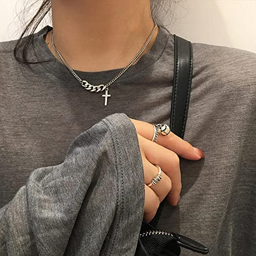 dihui Womans Necklaces 5A Cubic Zirconia, Regalos de joyería para Esposa, mamá y Novia,Collar con Etiqueta de Letras, Cadena de clavícula con Cara Sonriente de Plata esterlina-XL0461