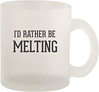 I'd Rather Be MELTING - 10oz Frosted Glass Coffee Mug