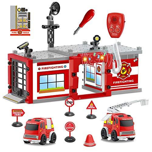 Fire Truck Toys, 61PCs Take...