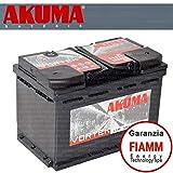 batteria auto akuma komfort+ 80 ah 12v 680a originale