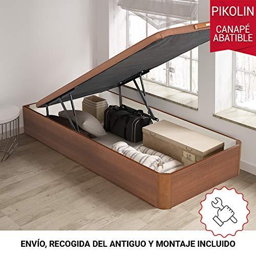 PIKOLIN, canapé abatible Gran Capacidad de almacenaje Color Cerezo 80x182, Servicio de Entrega Premium Incluido