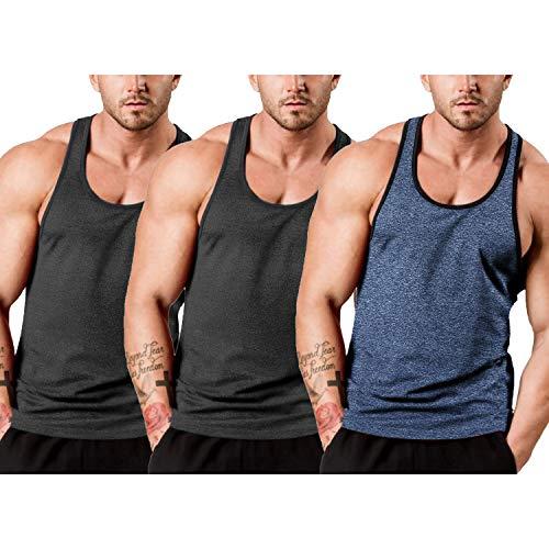 COOFANDY Débardeur de fitness pour homme - Séchage rapide - Fonctionnel - Pour le sport - Pour...