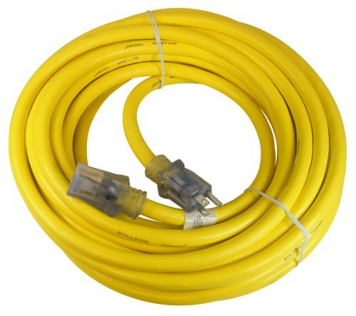 Prime Wire & Cable LT511930 50-Foot 10/3 SJTOW Bulldog Tough Ultra Heavy Duty Extension Cord with Prime Light Indicator Light, Yellow by Prime Wire & Cable