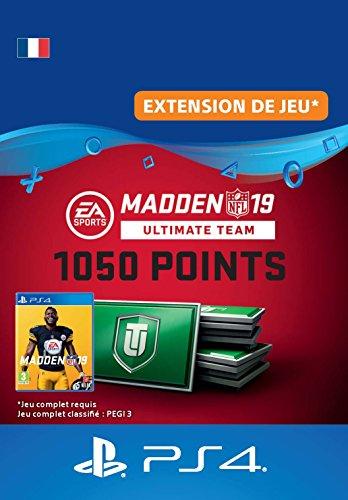 Madden NFL 19 Ultimate Team 1050 Points Pack - 1050 Points DLC | Code Jeu PS4 - Compte français