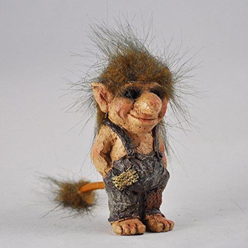 Prezents.com Troll-Skulptur, Troll mit Händen in Taschen, klein, originelles Geschenk, einzigartig, 9 cm